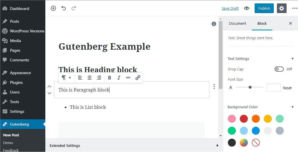 WordPress - Gutenberg Editor