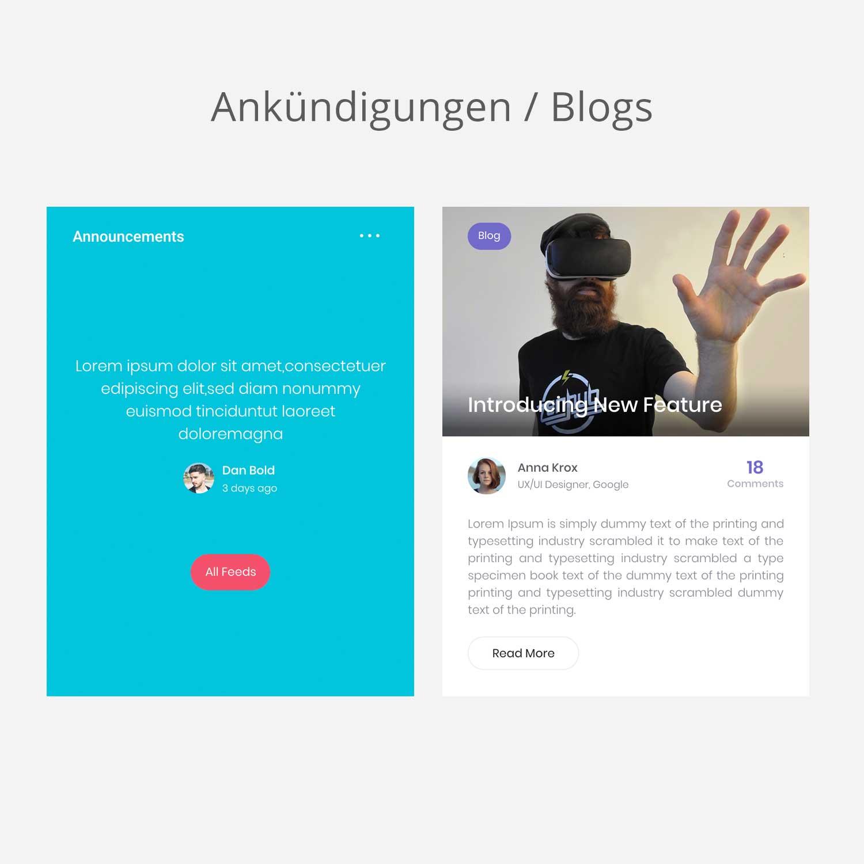 Ankündigungen, News und Blogs